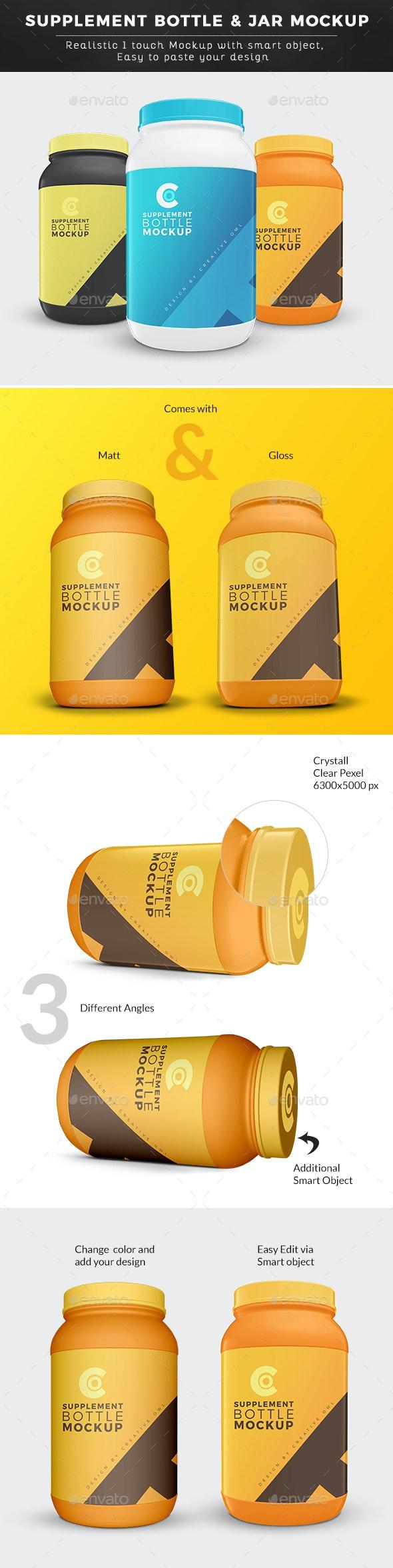 Ultimate Supplement Bottle or Jar Mockup - Packaging Product Mock-Ups