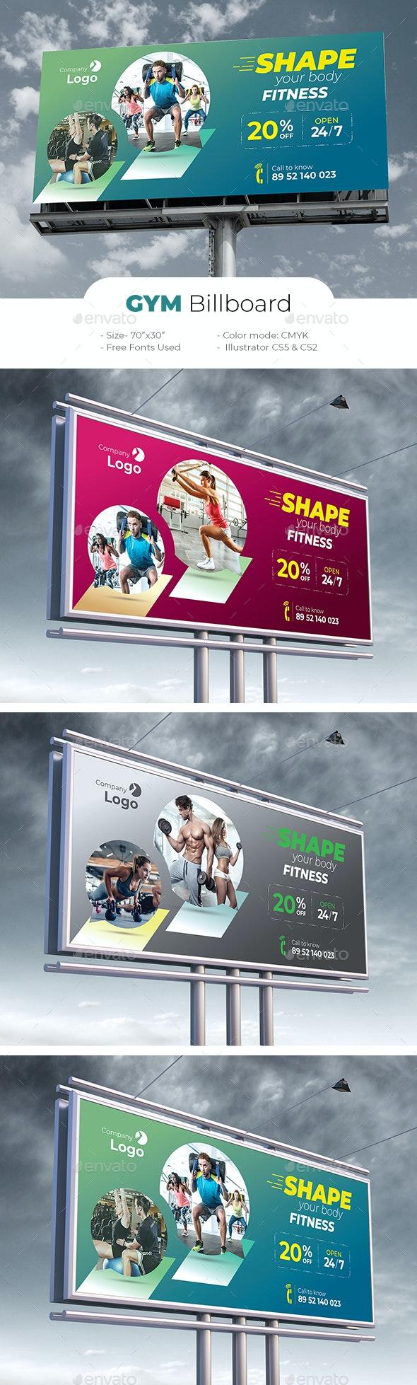 Gym Billboard - Signage Print Templates