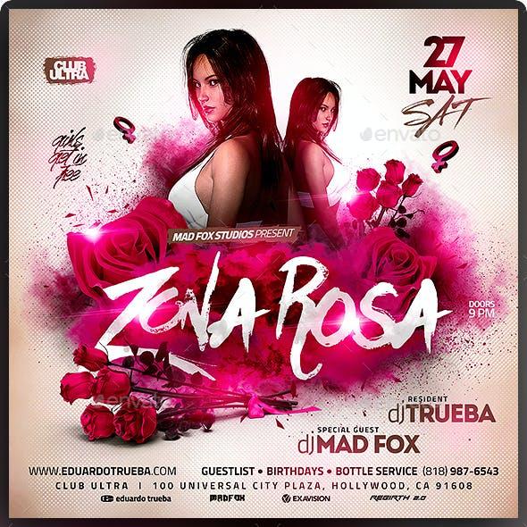 Zona Rosa Club Party Flyer