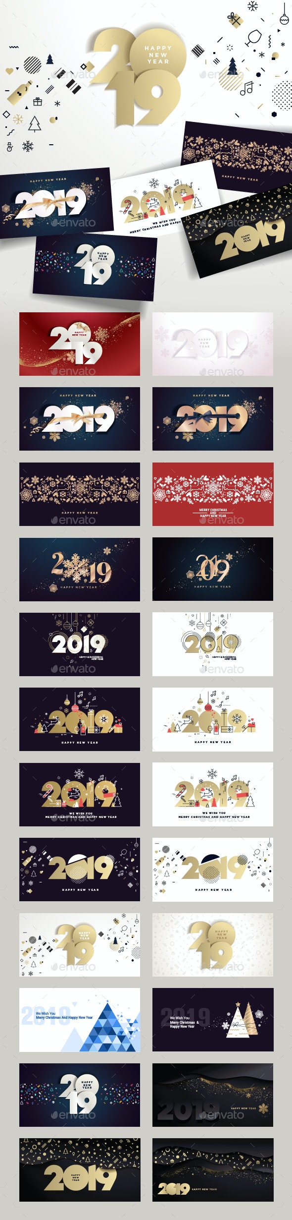 Merry Christmas and Happy New Year 2019 - New Year Seasons/Holidays