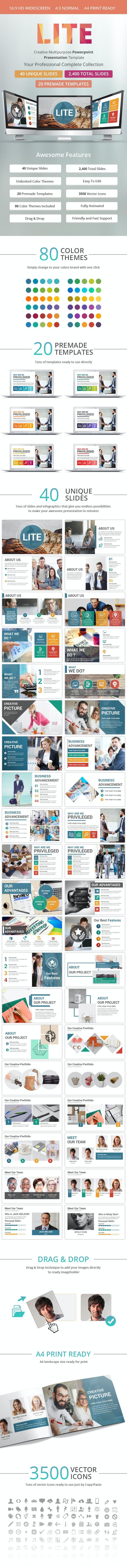 Lite PowerPoint Presentation Template - Business PowerPoint Templates