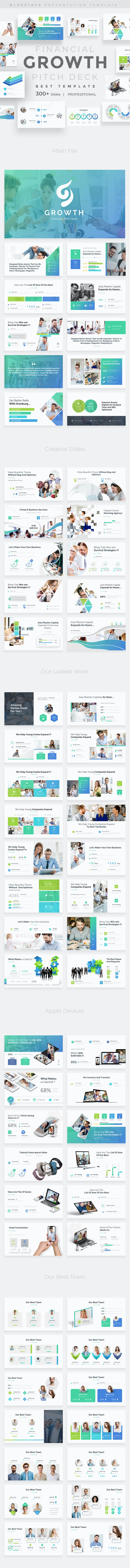 Financial Growth Pitch Deck Powerpoint Template - Business PowerPoint Templates