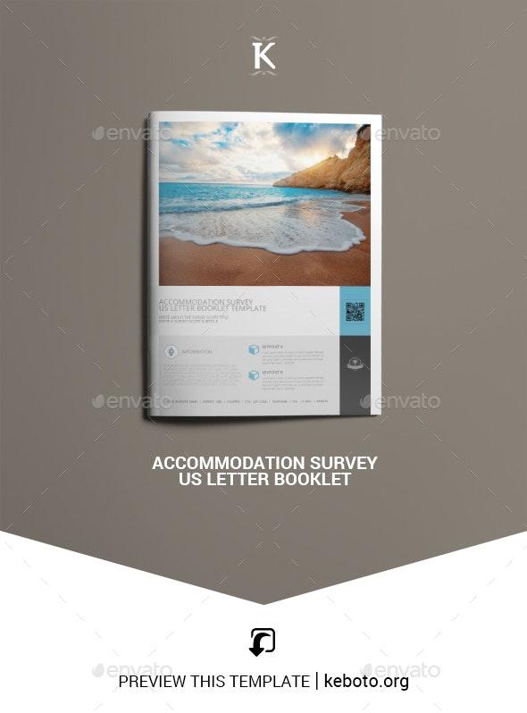 Accommodation Survey US Letter Booklet - Miscellaneous Print Templates