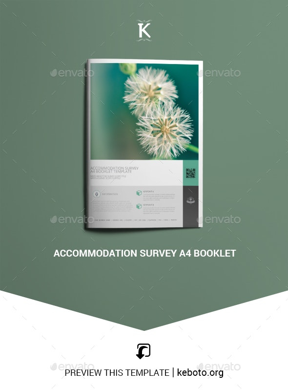 Accommodation Survey A4 Booklet - Miscellaneous Print Templates