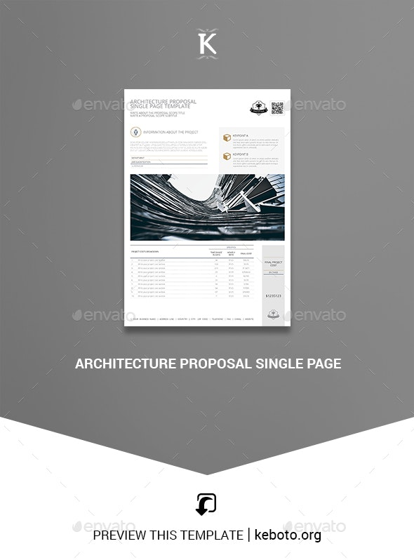 Architecture Proposal Single Page - Miscellaneous Print Templates