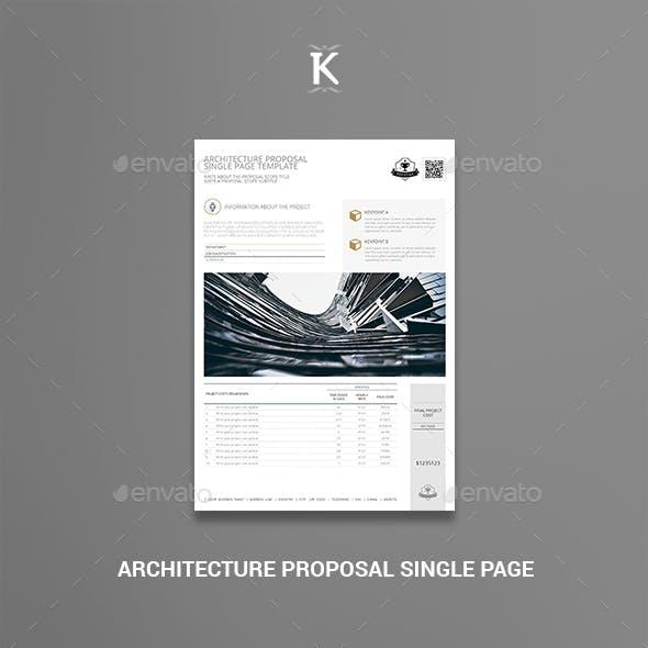 Architecture Proposal Single Page