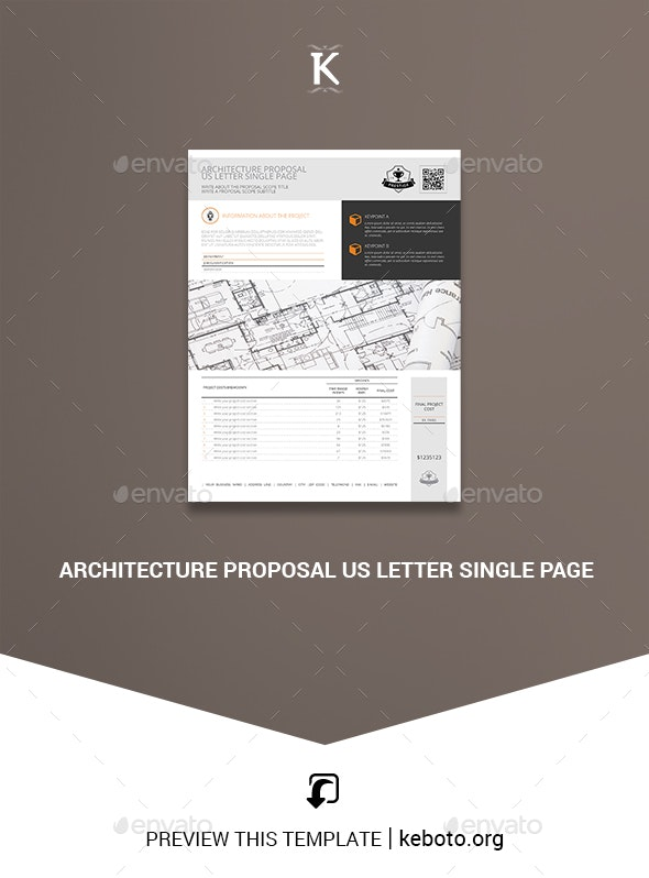 Architecture Proposal US Letter Single Page - Miscellaneous Print Templates