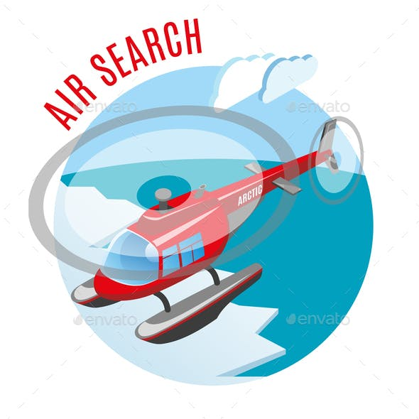 Search From Air Isometric Composition