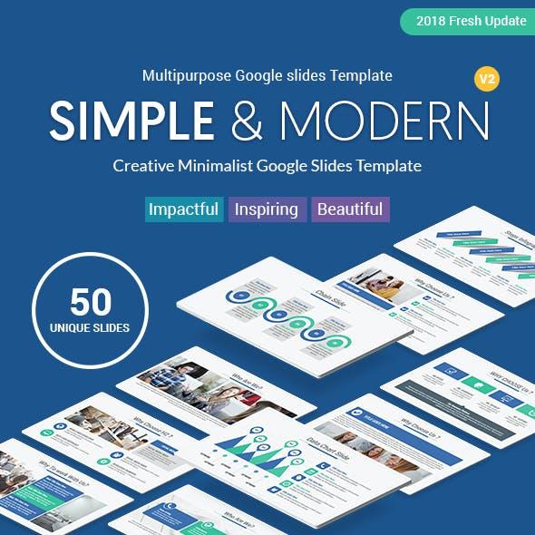 Simple Minimalist Google Slides Business Template Theme