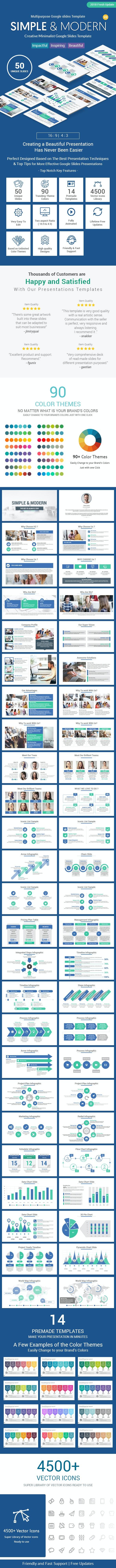 Simple Minimalist Google Slides Business Template Theme - Google Slides Presentation Templates