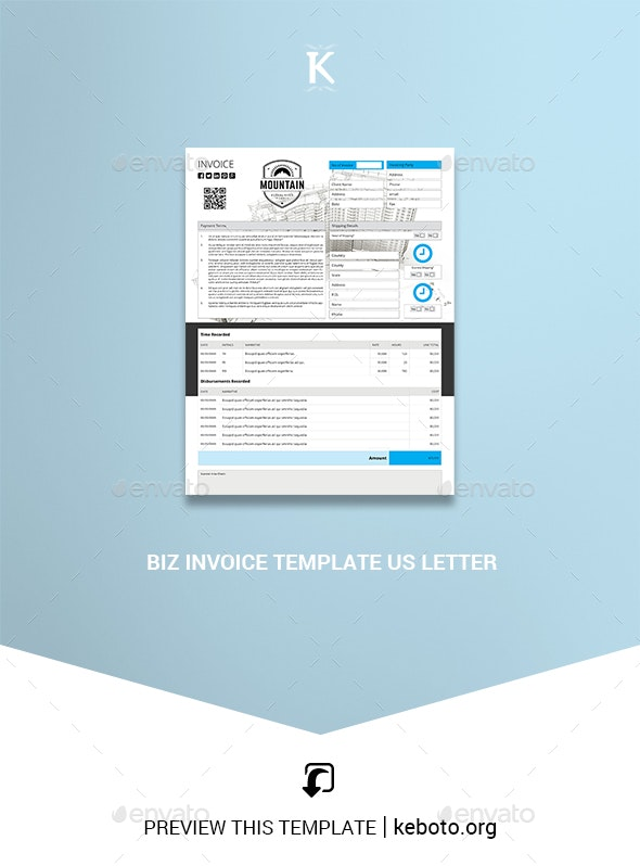 Biz Invoice Template US Letter - Proposals & Invoices Stationery