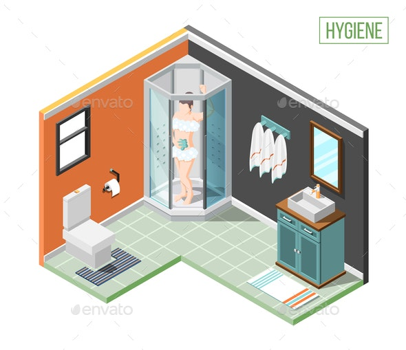 Hygiene Isometric Design Concept - Miscellaneous Vectors
