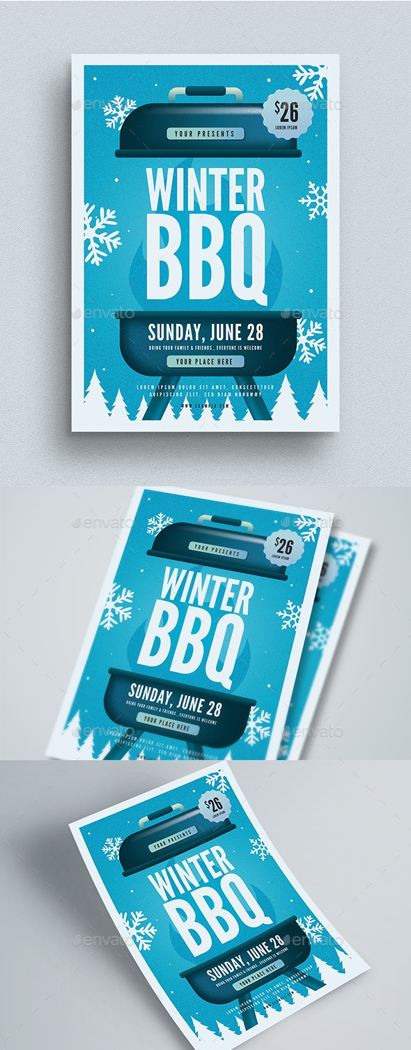 Winter BBQ Event Flyer - Events Flyers