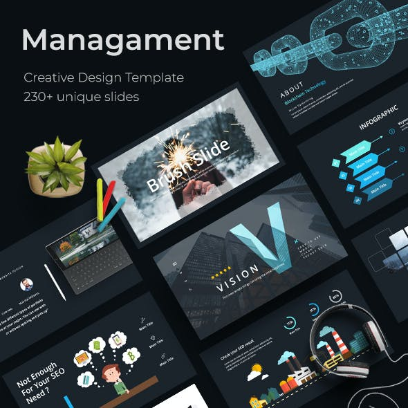 Management Creative Powerpoint Template