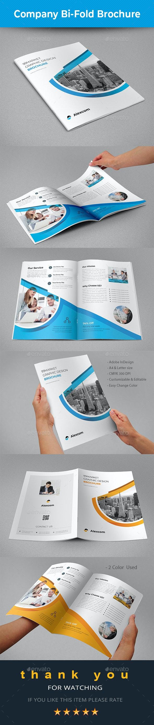 Company Bifold Brochure - Brochures Print Templates