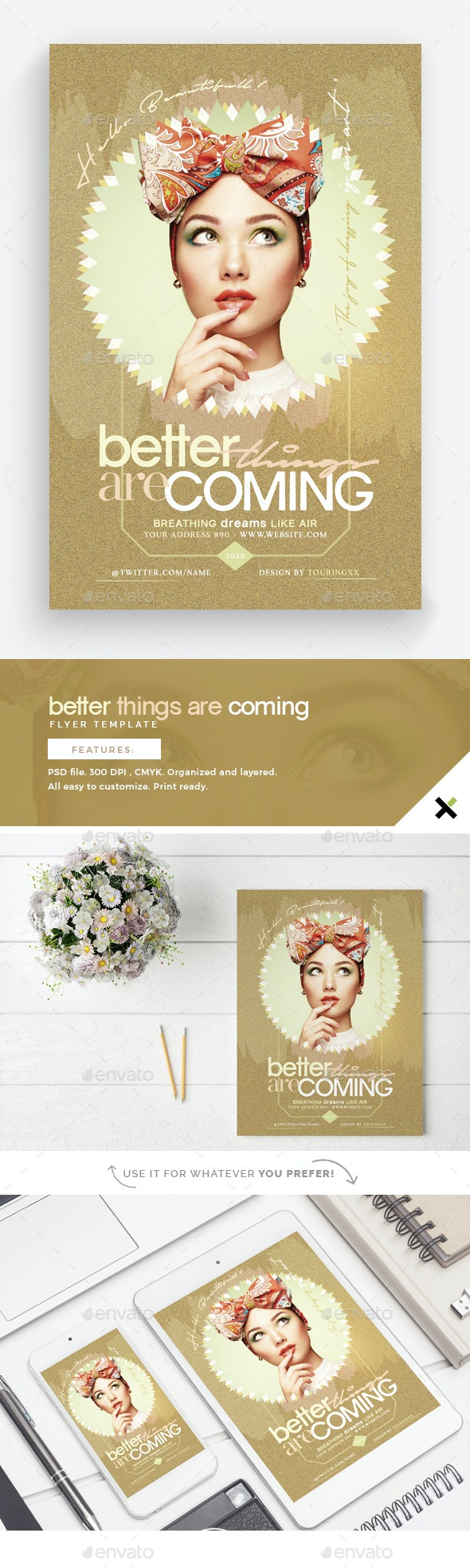 Better Things Are Coming Flyer Template - Flyers Print Templates