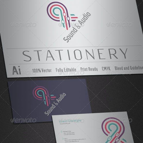 Sound & Audio Stationery
