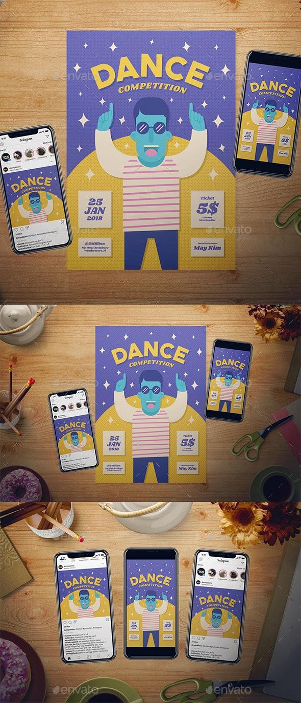 Dance Competition Flyer Set - Events Flyers