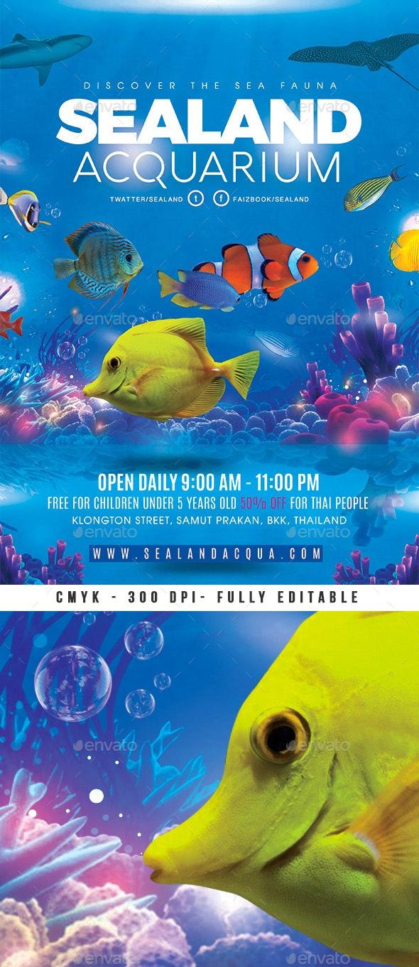 Aquarium Sea Land Flyer - Miscellaneous Events