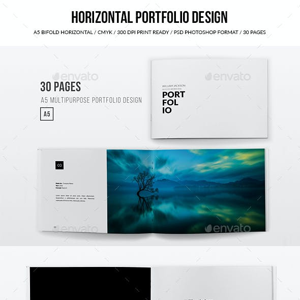 Horizontal Portfolio Design - A5 - 30 Pages