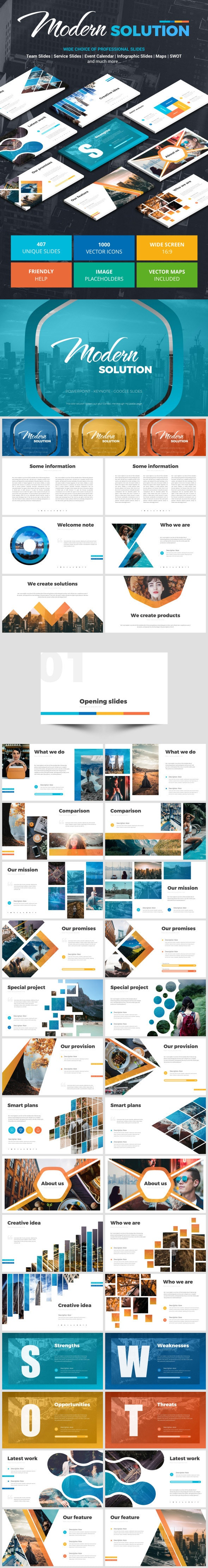 Modern Solution - Google Slides Presentation Templates