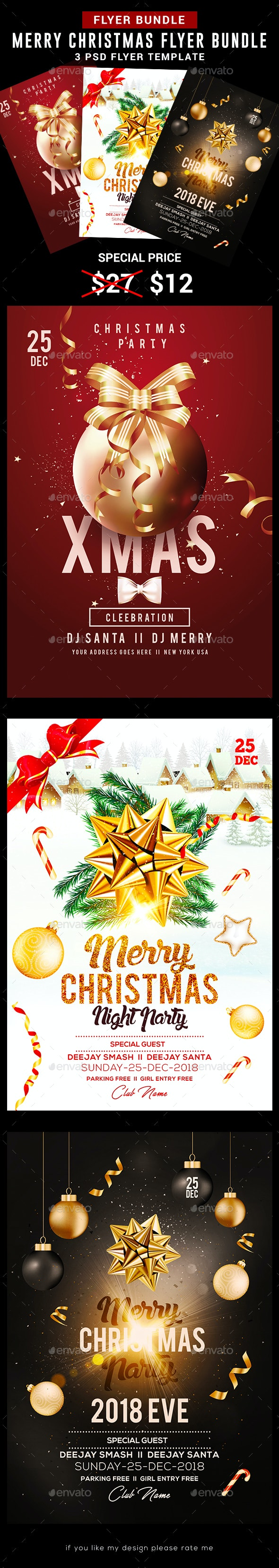 Christmas Flyer Bundle Templates - Holidays Events