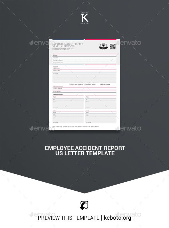 Employee Accident Report US Letter Template - Miscellaneous Print Templates