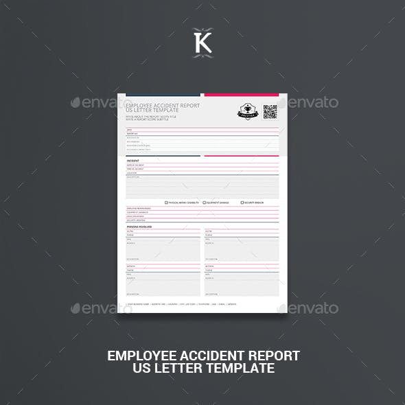 Employee Accident Report US Letter Template