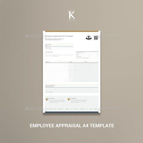 Employee Appraisal A4 Template