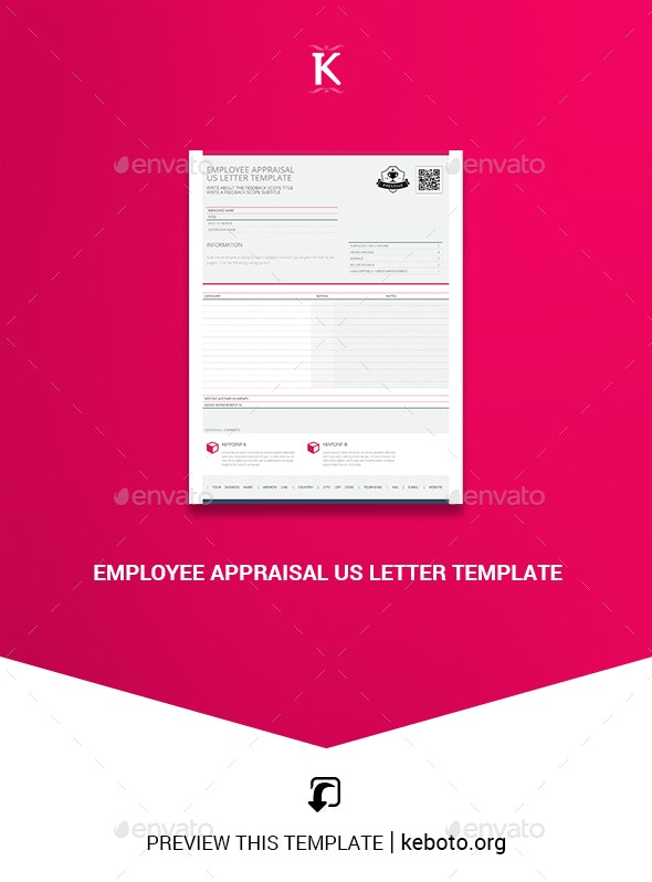 Employee Appraisal US Letter Template - Miscellaneous Print Templates