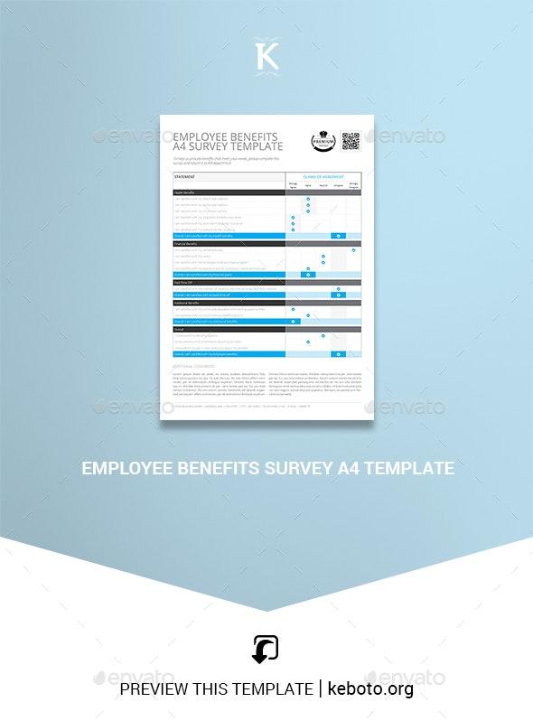 Employee Benefits Survey A4 Template - Miscellaneous Print Templates