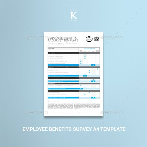 A4 Survey Template Graphics, Designs & Templates