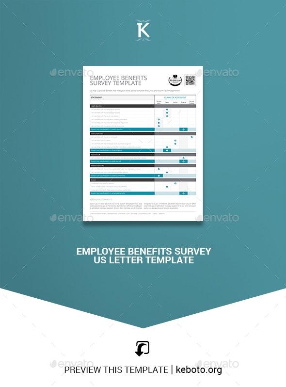 Employee Benefits Survey US Letter Template - Corporate Brochures