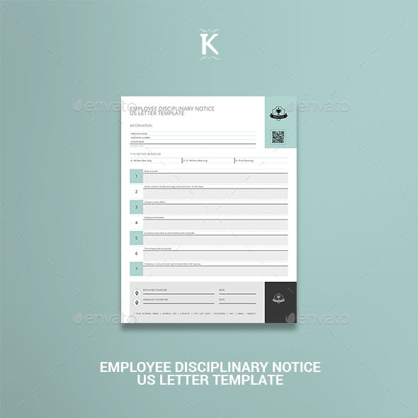 Employee Disciplinary Notice US Letter Template