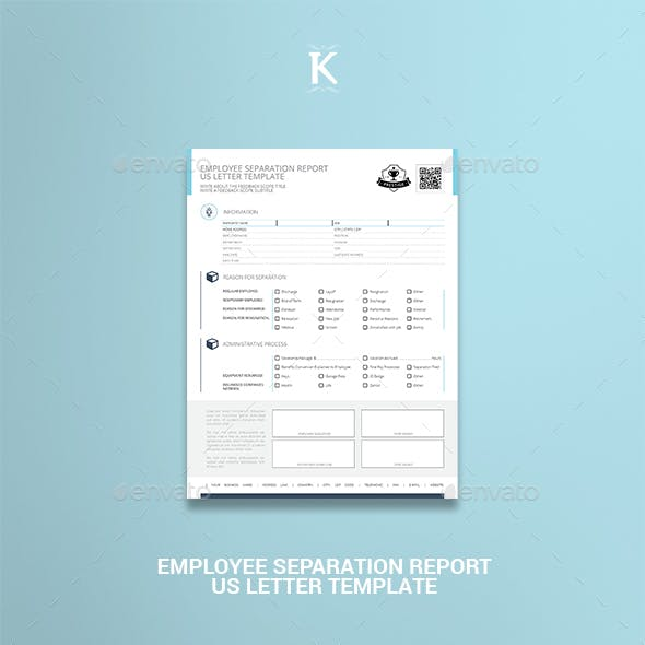Employee Separation Report US Letter Template