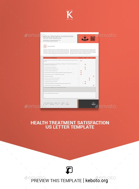 Health Treatment Satisfaction US Letter Template - Miscellaneous Print Templates