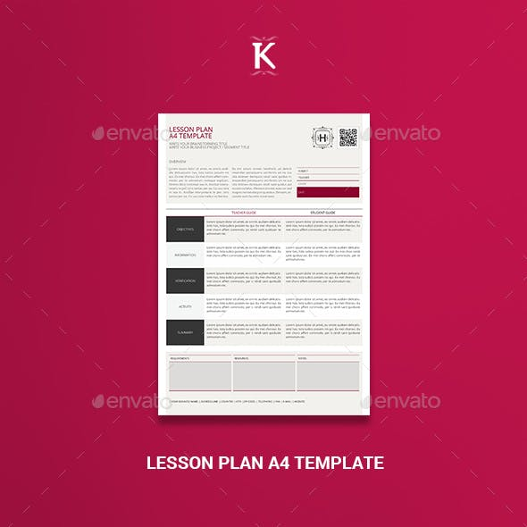 Lesson Plan And Lesson Plan Template Graphics Designs Templates