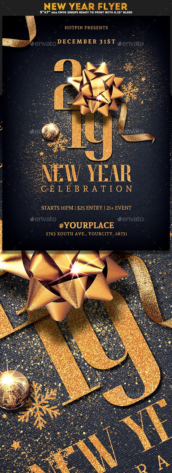 New Year Eve Invitation Flyer - Events Flyers