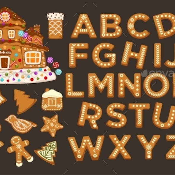 Happy Holidays, Christmas Abc Letters Font