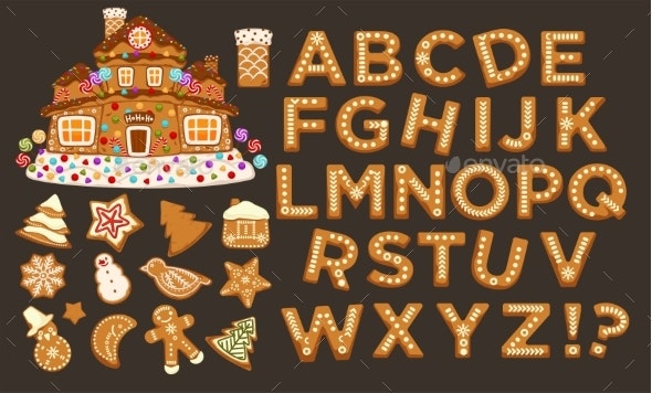 Happy Holidays, Christmas Abc Letters Font - Miscellaneous Vectors