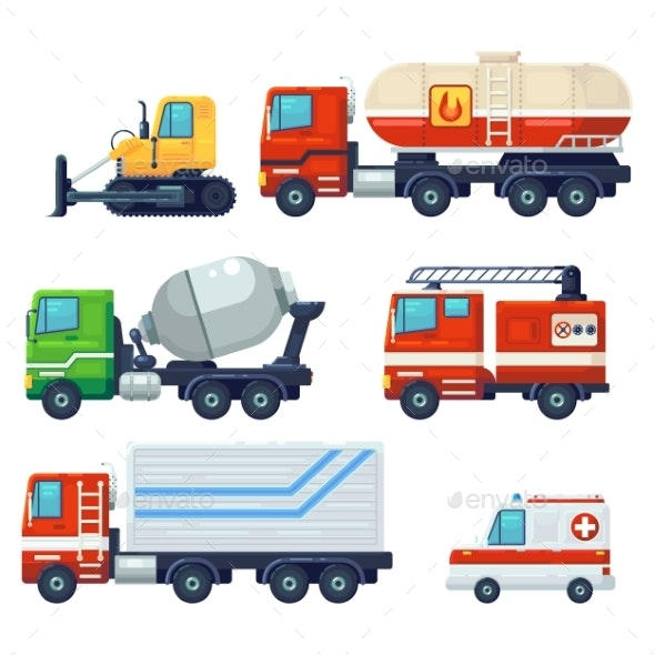 Heavy Industrial Vehicle Cars - Miscellaneous Vectors