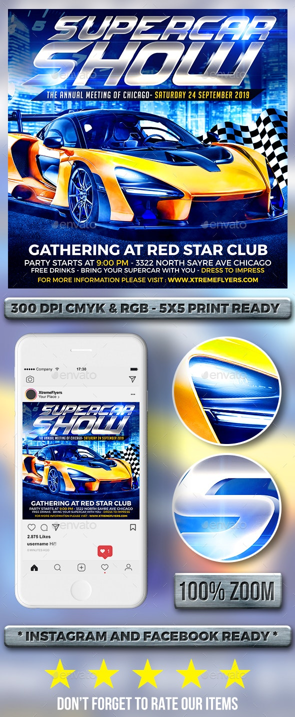 Car Show Flyer - Clubs & Parties Events