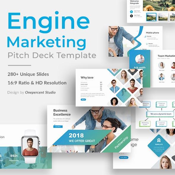 Engine Marketing Pitch Deck Google Slide Template