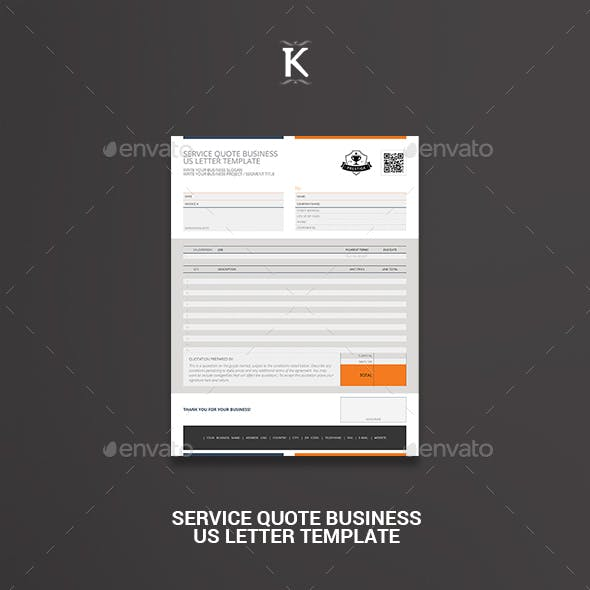 Service Quote Business US Letter Template