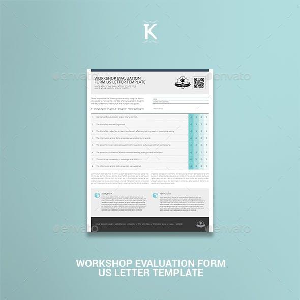 Workshop Evaluation Form US Letter Template