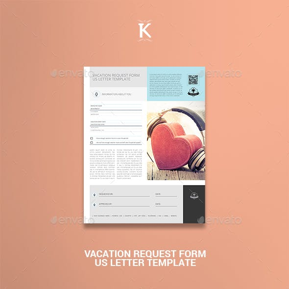 Vacation Request Form US Letter Template