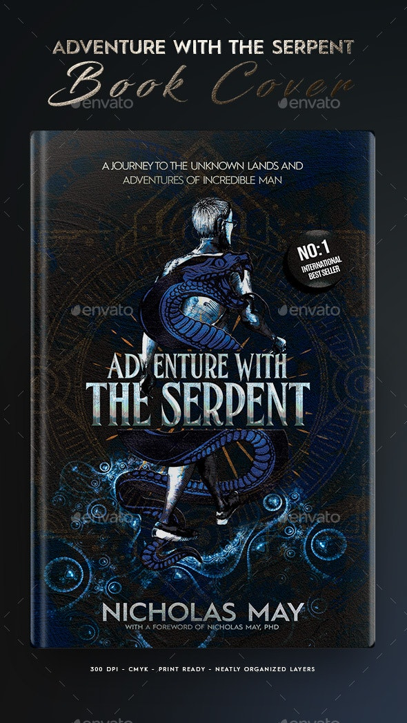 Book Cover - Adventure with the Serpent - Print Templates