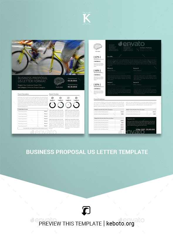 Business Proposal US Letter Template - Proposals & Invoices Stationery