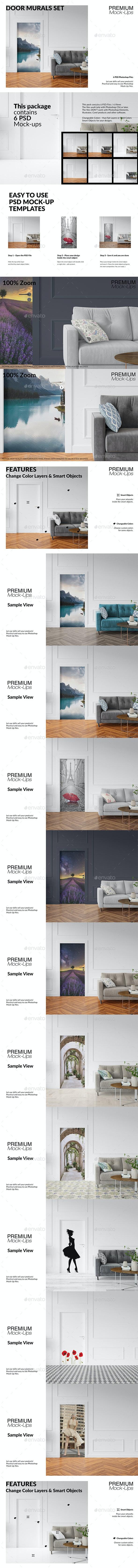 Door Murals Set - Print Product Mock-Ups