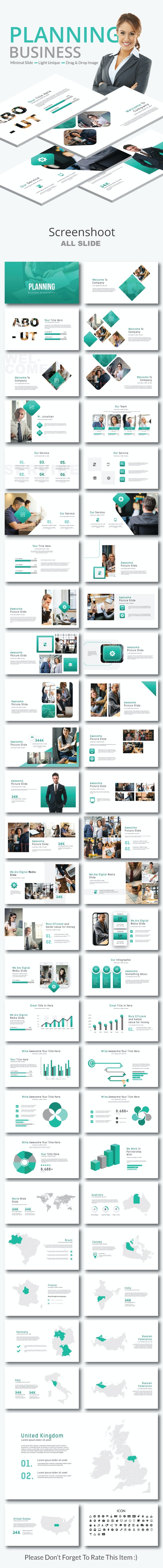 Planning Business Google Slide - Business PowerPoint Templates